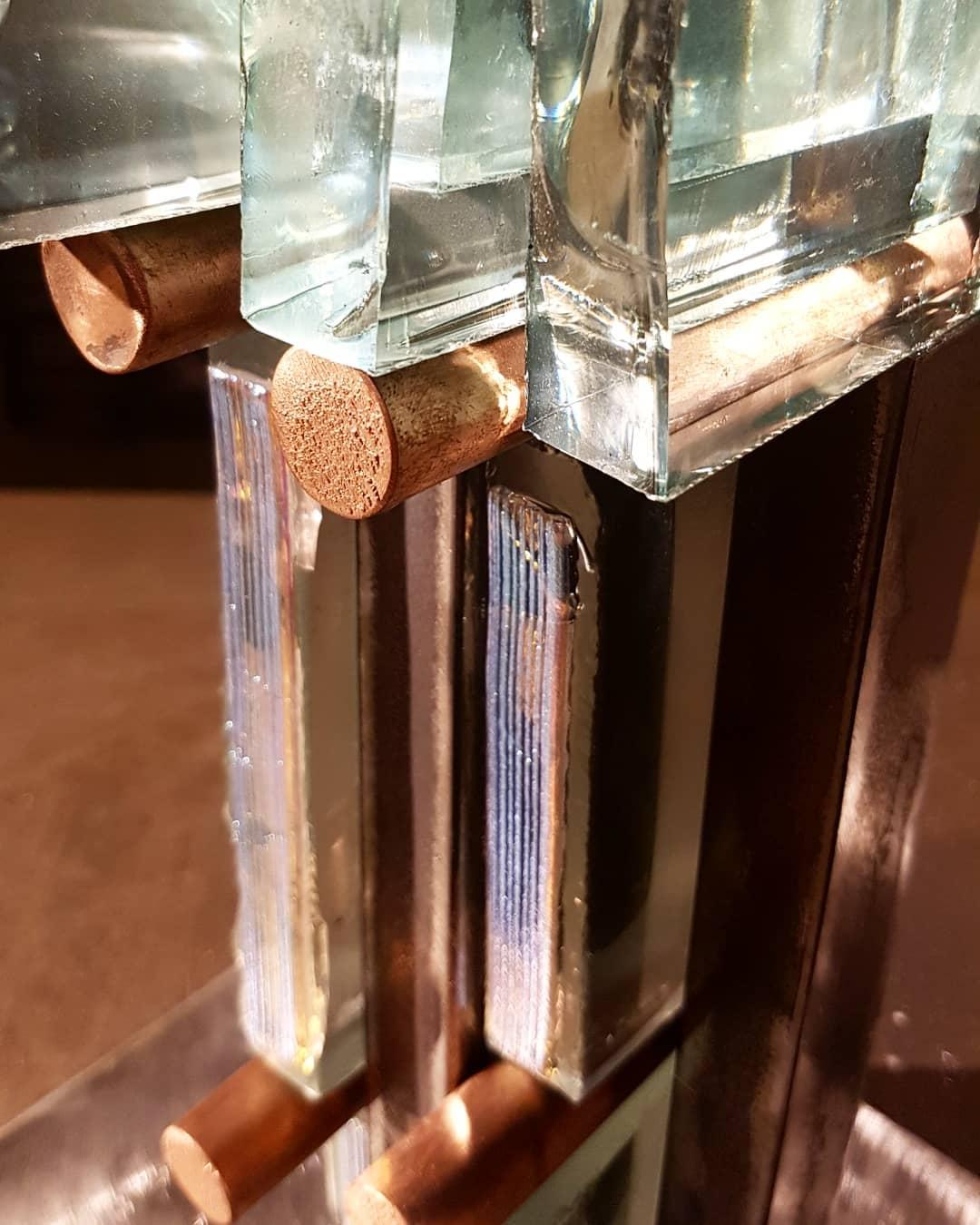 Sculpture métal et verre acier et verre paul estier artiste 2018 lausanne genève neuchatel yverdon (25)