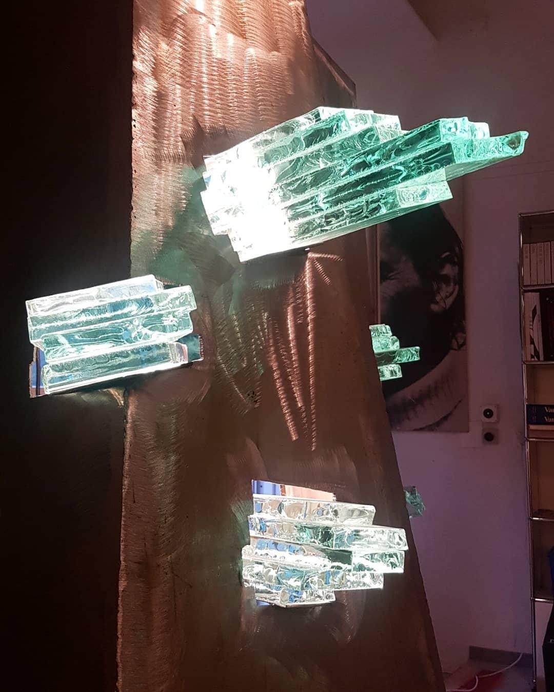 Sculpture métal et verre acier et verre paul estier artiste 2018 lausanne genève neuchatel yverdon (28)