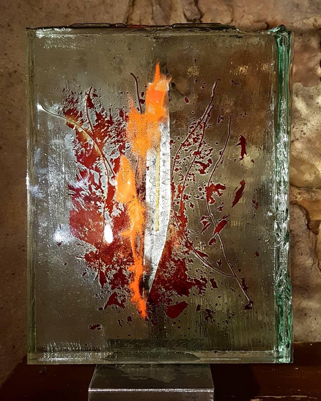 Sculpture métal et verre acier et verre paul estier artiste 2018 lausanne genève neuchatel yverdon (3)