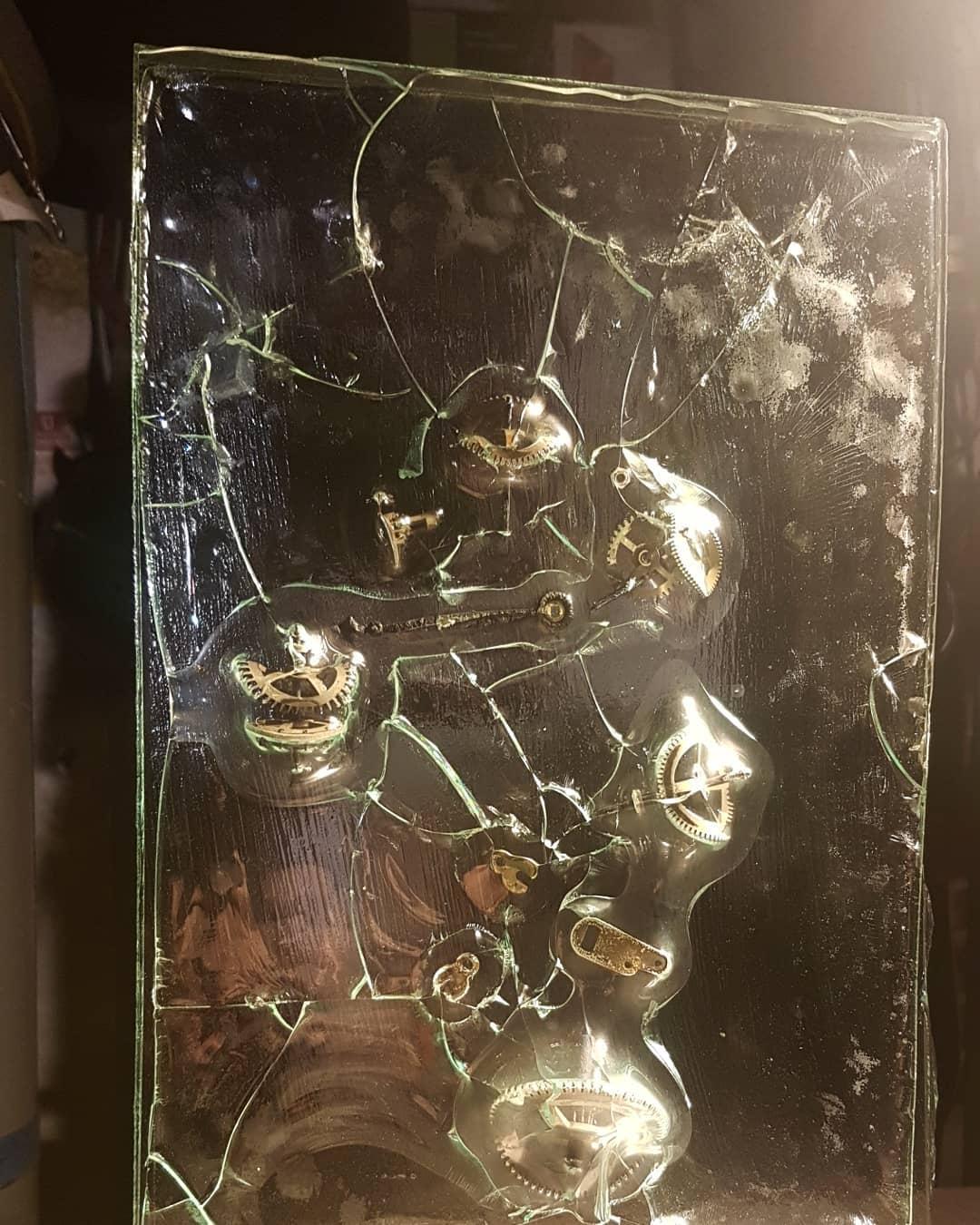 Sculpture métal et verre acier et verre paul estier artiste 2018 lausanne genève neuchatel yverdon (8)