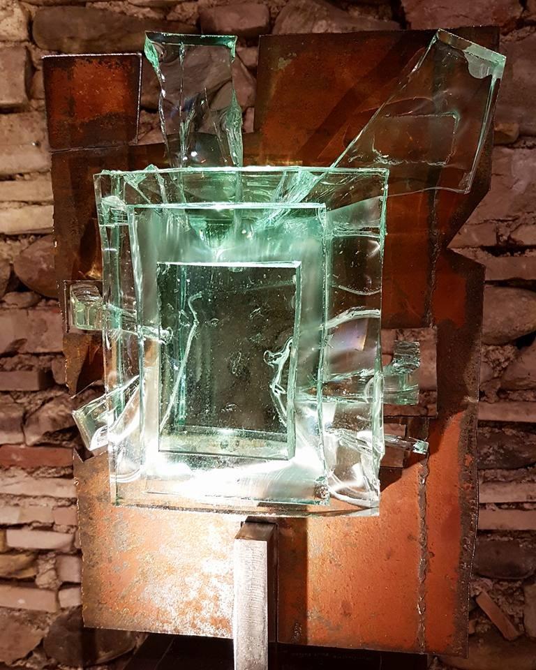 Sculpture métallique et verre Paul Estier Suisse Art Exposition (5)
