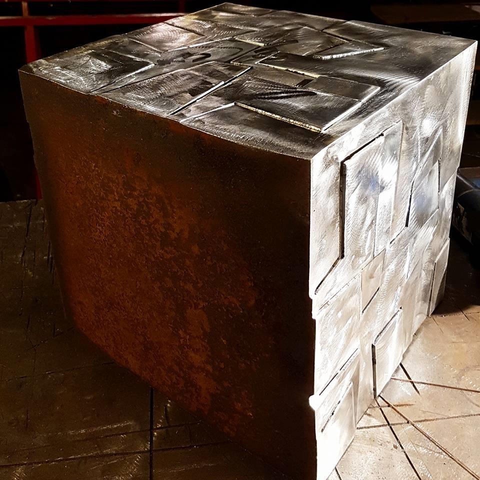 Sculpture métallique et verre Paul Estier Suisse Art Exposition (8)