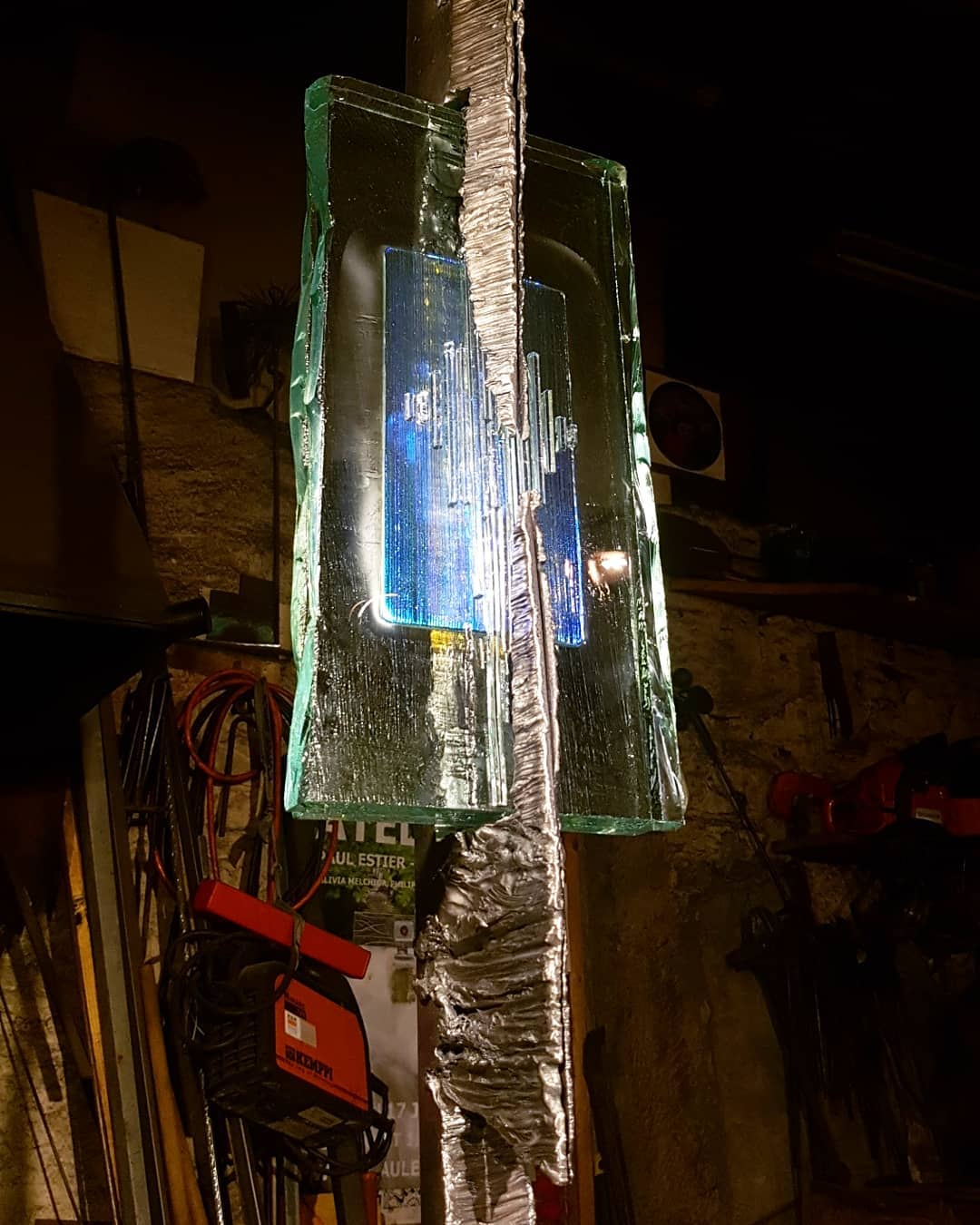 Sculpture acier et verre métal et verre paul estier artiste genève lausanne neuchatel yverdon (6)