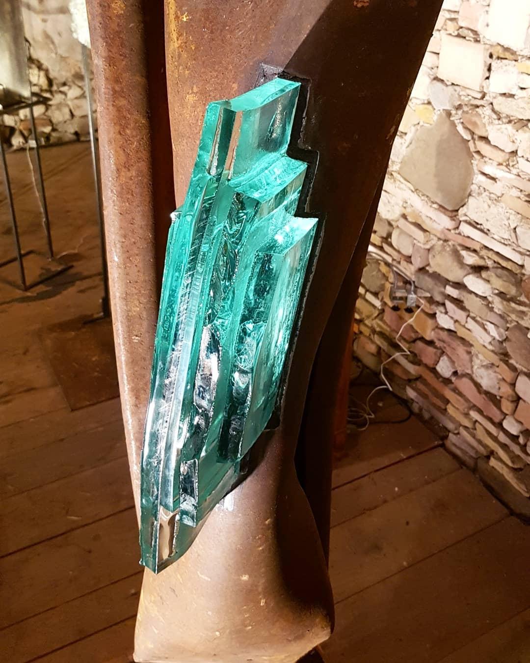Sculpture acier et verre métal et verre paul estier artiste genève lausanne neuchatel yverdon (10)