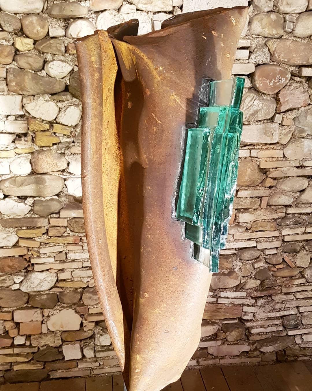 Sculpture acier et verre métal et verre paul estier artiste genève lausanne neuchatel yverdon (12)