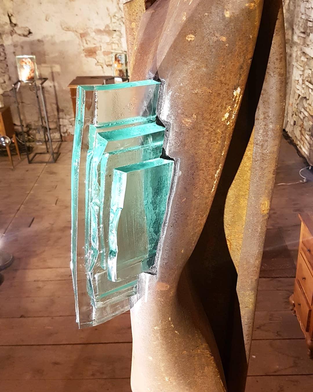 Sculpture acier et verre métal et verre paul estier artiste genève lausanne neuchatel yverdon (13)