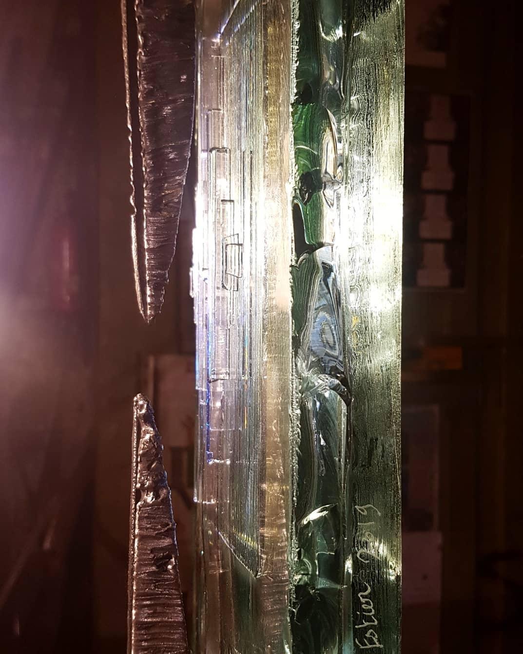 Sculpture acier et verre métal et verre paul estier artiste genève lausanne neuchatel yverdon (5)