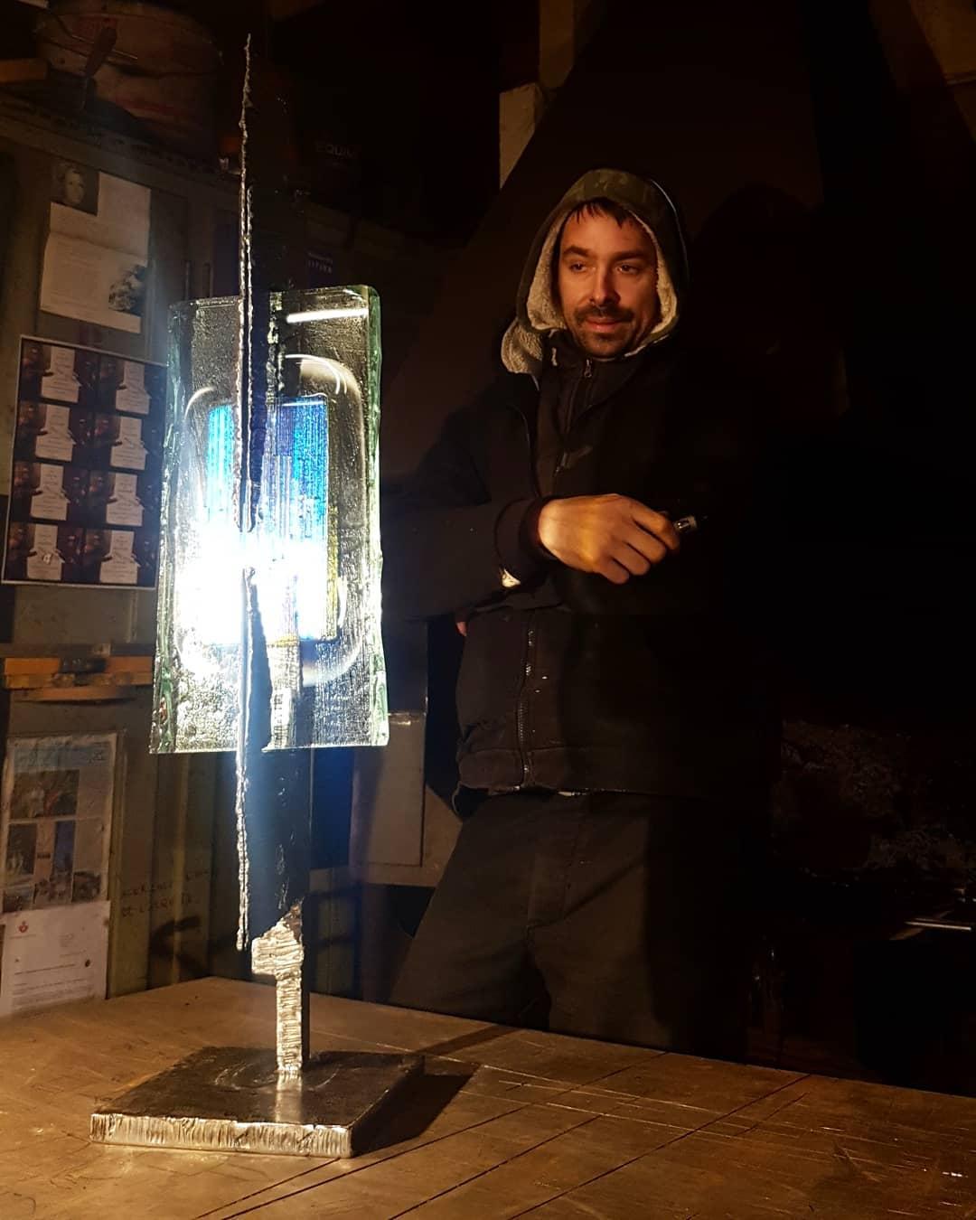 Sculpture acier et verre métal et verre paul estier artiste genève lausanne neuchatel yverdon (7)
