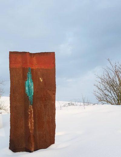 Sculpture acier verre suisse art Paul Estier exposition photo (1)
