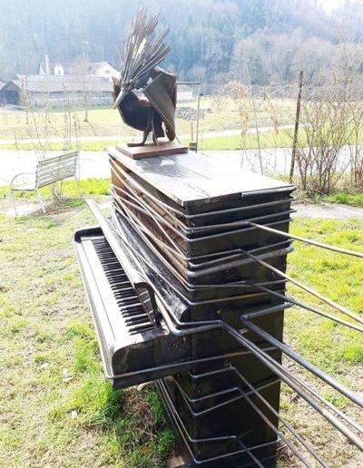 Sculpture acier verre suisse art Paul Estier exposition photo (11)
