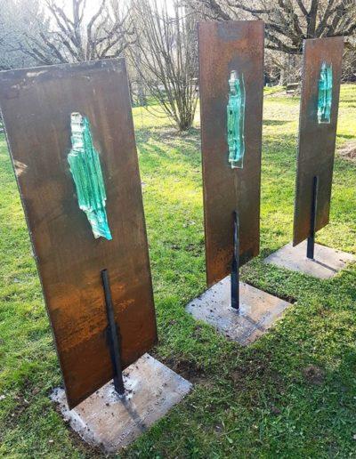 Sculpture acier verre suisse art Paul Estier exposition photo (12)