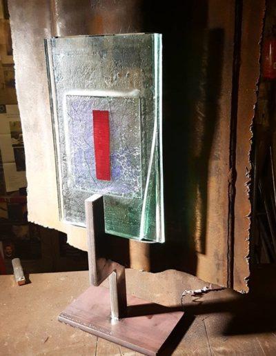Sculpture acier verre suisse art Paul Estier exposition photo (14)