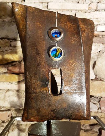 Sculpture acier verre suisse art Paul Estier exposition photo (15)