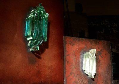 Sculpture acier verre suisse art Paul Estier exposition photo (16)