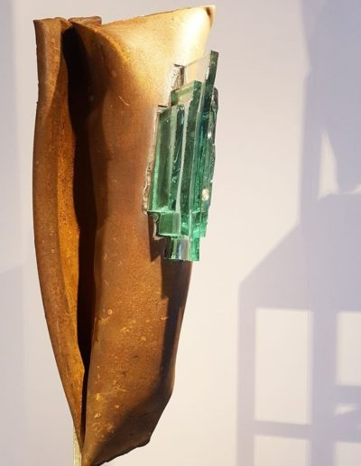 Sculpture acier verre suisse art Paul Estier exposition photo (3)