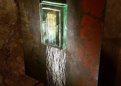 Sculpture acier verre suisse art Paul Estier exposition photo (5)