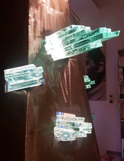Sculpture acier verre suisse art Paul Estier exposition photo (6)