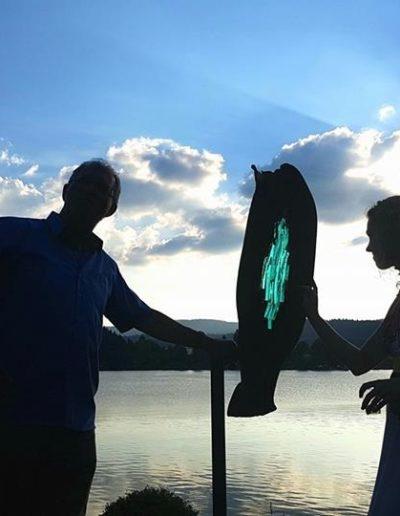 Sculpture acier verre suisse art Paul Estier exposition photo (8)