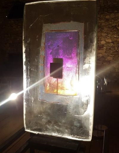 Sculpture acier verre suisse art Paul Estier exposition photo (8)