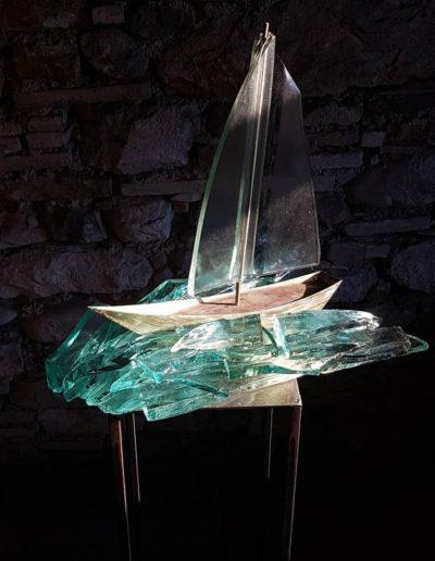Sculpture acier verre suisse art Paul Estier exposition photo (9)