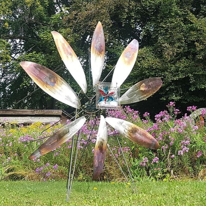 Paul Estier_2020_Hommage aux fleurs_Sculpture acier et verre