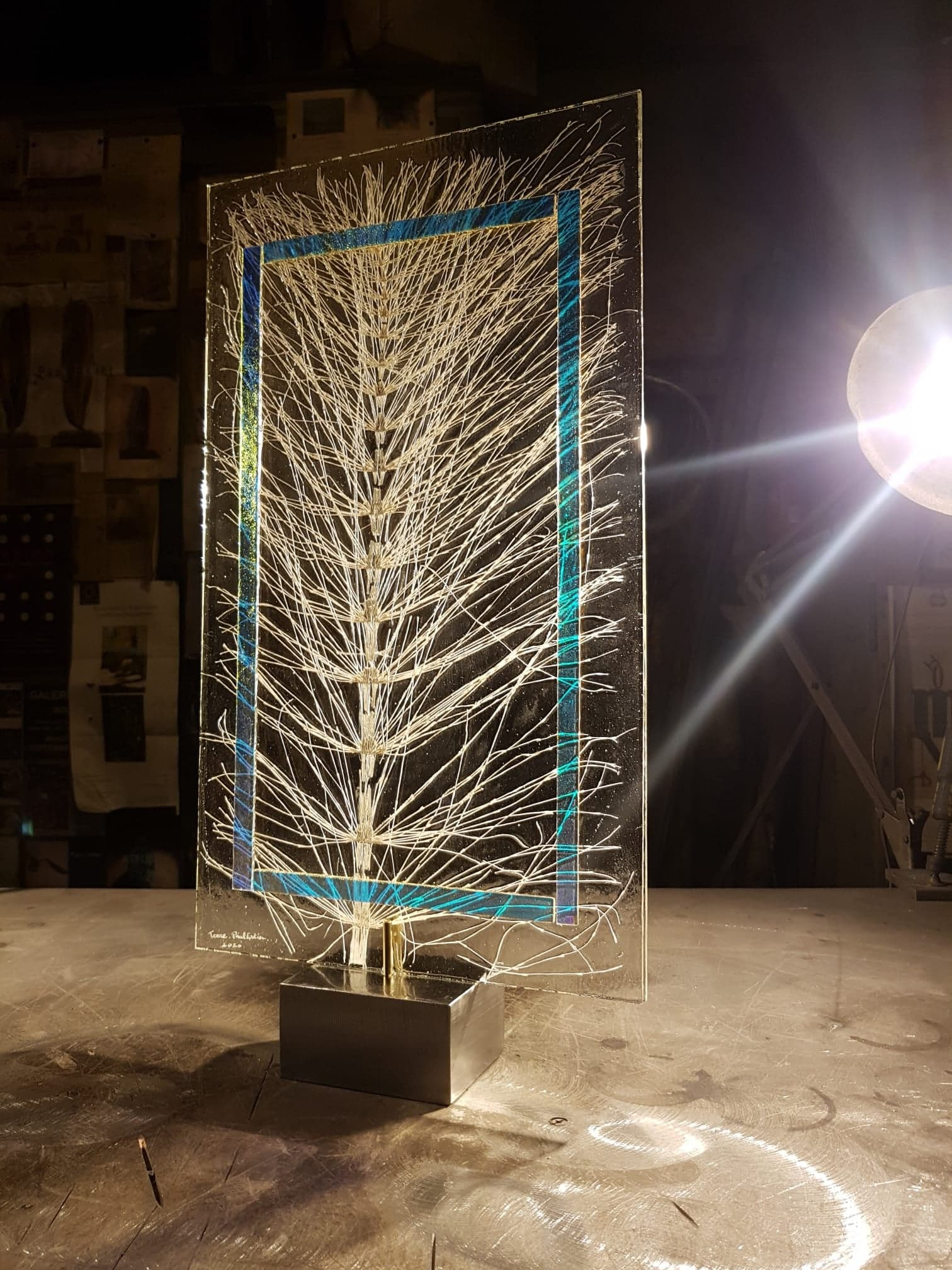 Paul Estier_2020_Terre_Sculpture acier et verre