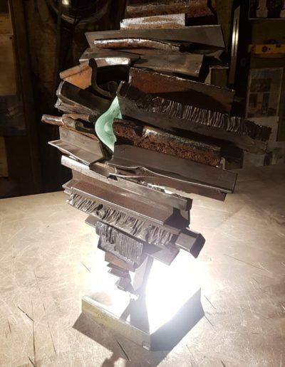 Paul Estier_2020_Gullliver_Sculpture acier et verre